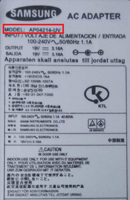 Samsung-adapter-model-nummer-